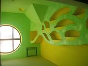 художественная роспись стен аэрографом и кистью покраска итал. краск.