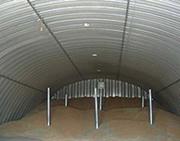 Быстровозводимые зернохранилища,  Строительство зернохранилищ.