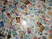 Большая куча марок разных стран и годов